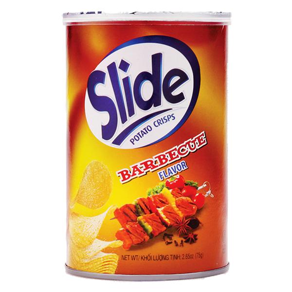 Snack Khoai Tây Slide Vị BBQ Hộp 75G