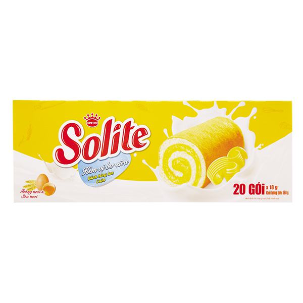 Bánh Solite Swiss Roll Bơ Sữa 360G