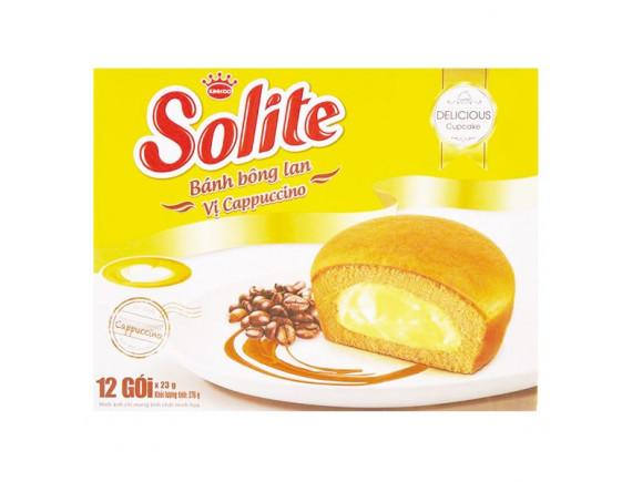 Bánh Bông Lan Solite Cappuccino Hộp 12 Gói*23G