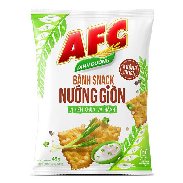 Snack AFC Nướng Giòn Vị Kem Chua Hành Gói 45G