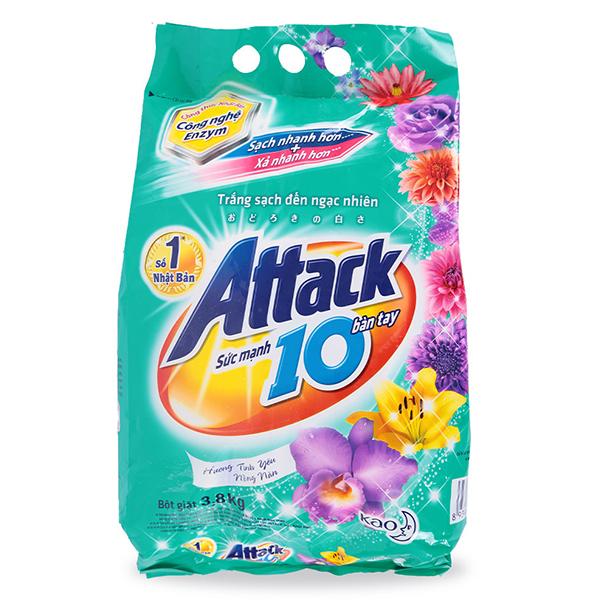 Bột Giặt Attack Tình Yêu Nồng nàn 3.8Kg