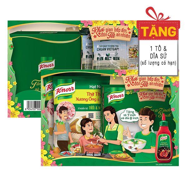 Lô 2 Hạt Nêm Knorr Thịt Thăn Xương Ống & Tủy 900G