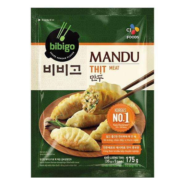 Bánh Xếp Mandu Bibigo Nhân Thịt Gói 175G