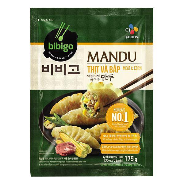 Bánh Xếp Mandu Bibigo Nhân Thịt Và Bắp Gói 175G
