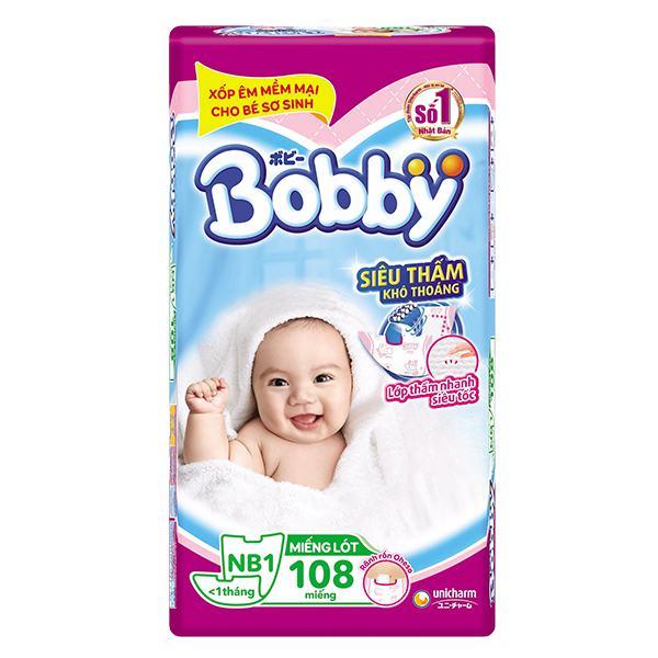 Tã Giấy Bobby Fresh Newborn 1 - 108 Miếng