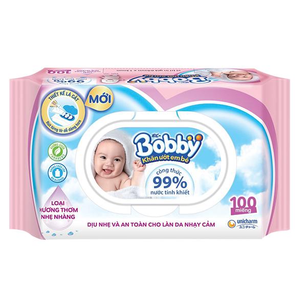 Khăn Ướt Bobby Care 100 Miếng
