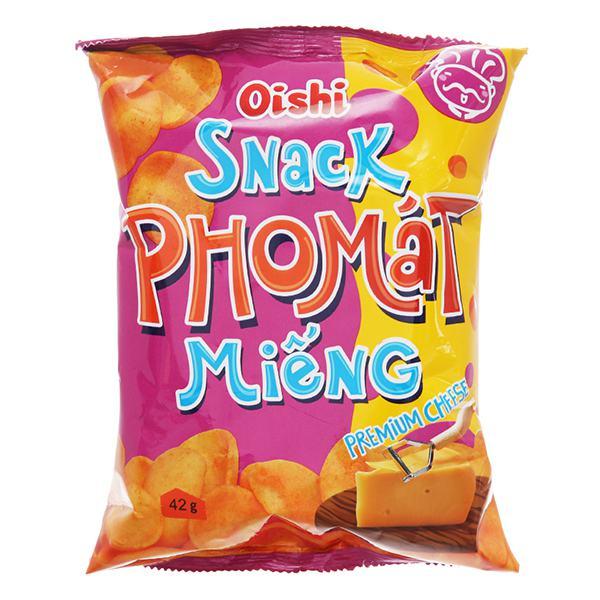 Snack Oishi Phô Mát Miếng Gói 42G