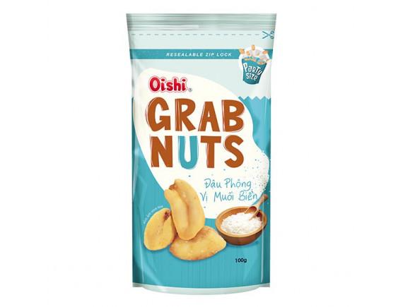 Đậu Phộng Oishi Grab Nuts Vị Muối Biển Gói 100G