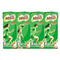 Lốc 4 Thức Uống Lúa Mạch Nestle Milo 180Ml