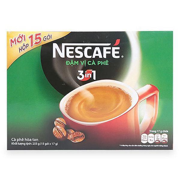 Cà Phê Nescafe 3in1 Xanh Rang Xay 17G*15