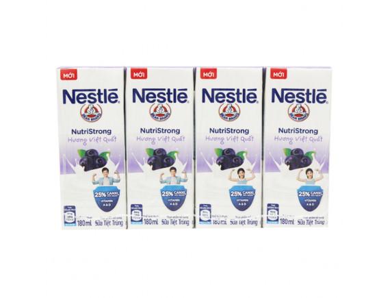 Lốc 4 Sữa Tiệt Trùng Nestle Việt Quất Hộp Giấy 180Ml