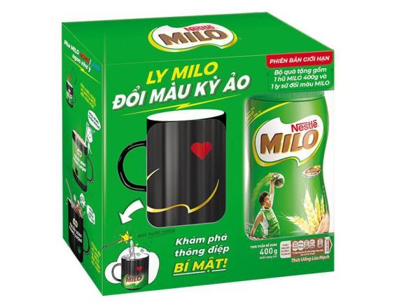 Bột Ca Cao Milo Hũ 400G - Tặng ly đổi màu