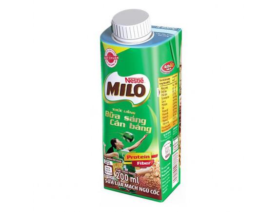 Thức Uống Dinh Dưỡng Lúa Mạch Ngũ Cốc Nestle Milo Nắp Vặn Hộp 200Ml