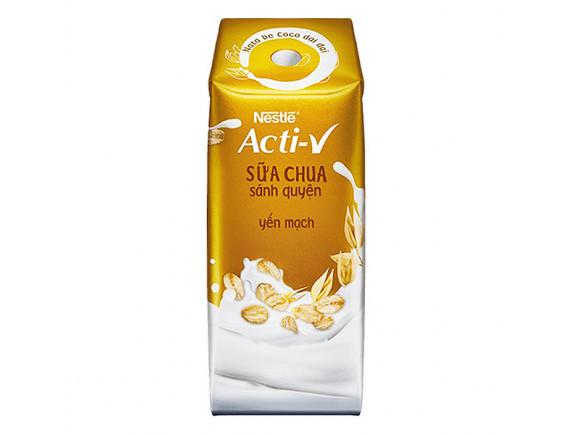 Sữa Chua Uống Nestle Acti-V Yến Mạch Hộp 180Ml