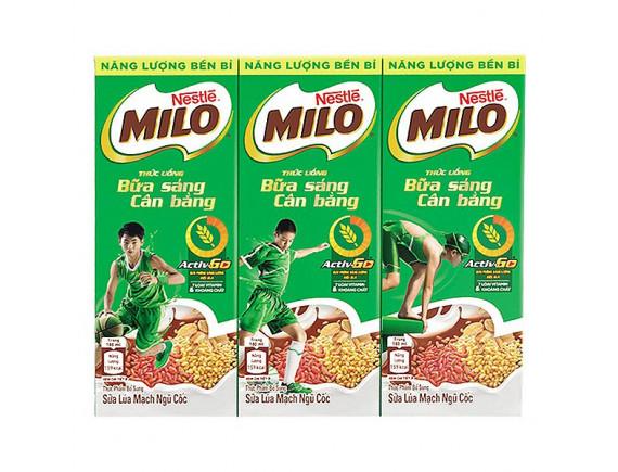 Lốc 3 Milo Ngũ Cốc Bữa Sáng Cân Bằng Hộp 180Ml