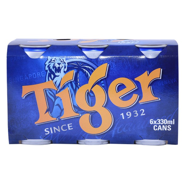 Bia Tiger Lốc 6 Lon 330Ml
