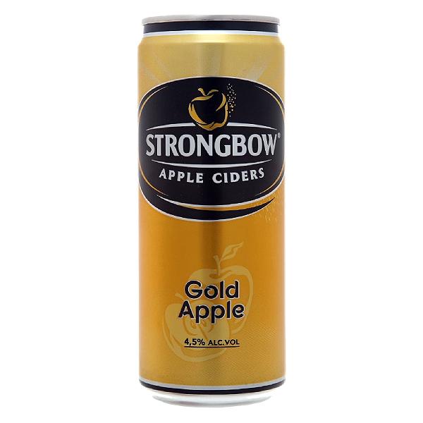 Nước Táo Lên Men Strongbow Vị Táo Nguyên Bản Sleek Lon 330Ml