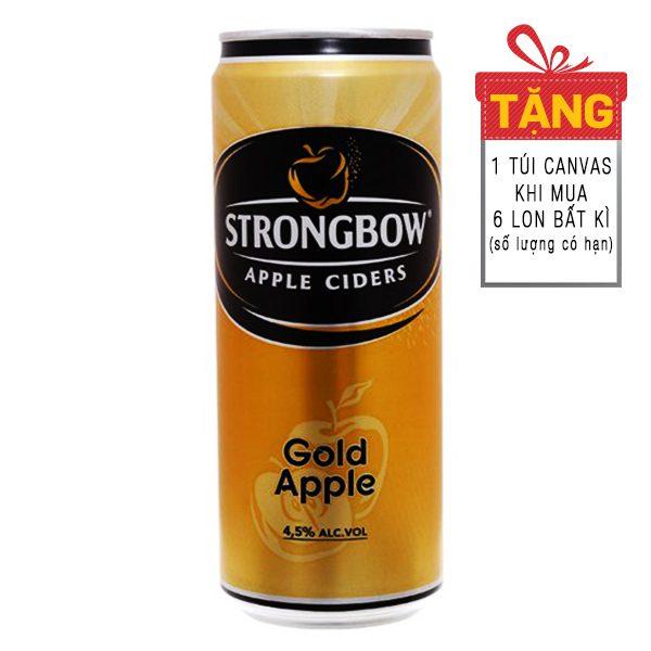 Nước Táo Strongbow Vị Táo Nguyên Bản Sleek Lon 330Ml