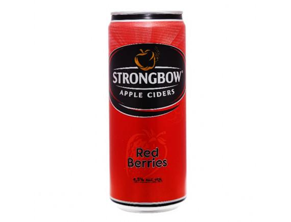 Nước Táo Lên Men Strongbow Vị Dâu Đỏ Sleek Lon 330Ml