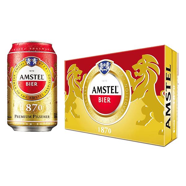 Bia Amstel Lon 330Ml* 24