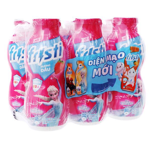 Lốc 6 Sữa Chua Uống Tiệt Trùng Fristi Hương Dâu 80Ml