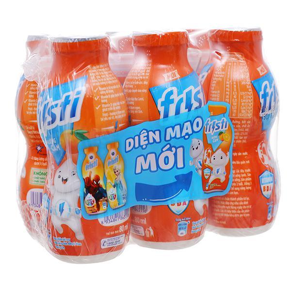 Lốc 6 Sữa Chua Uống Tiệt Trùng Fristi Hương Cam 80Ml