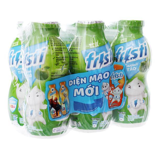 Lốc 6 Sữa Chua Uống Tiệt Trùng Fristi Hương Táo 80Ml