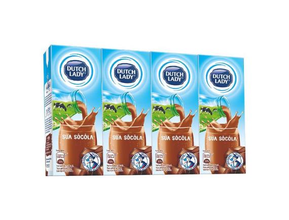 Lốc 4 Sữa Tiệt Trùng Dutch Lady 20+ Socola 180Ml