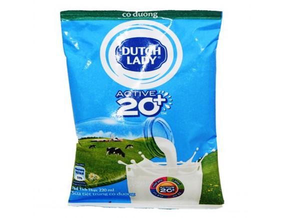Sữa Tiệt Trùng Dutch Lady Có Đường Bịch 220Ml
