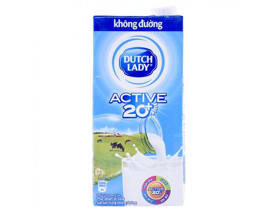 Sữa Tiệt Trùng Dutch Lady Không Đường Hộp Giấy 1L