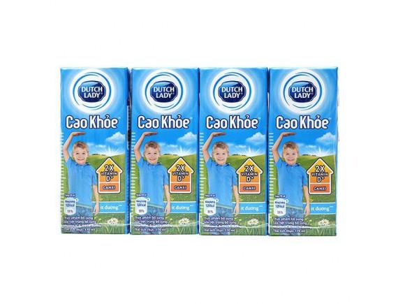 Lốc 4 Sữa Tiệt Trùng Dutch Lady Cao Khỏe Ít Đường 170Ml