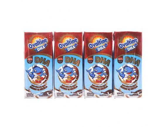 Lốc 4 Sữa Tiệt Trùng Ovaltine DHA+ Hộp Giấy 180Ml