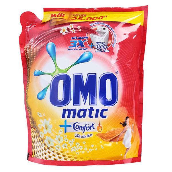 Nước Giặt Omo Matic Comfort Tinh Dầu Thơm Túi 3.7Kg