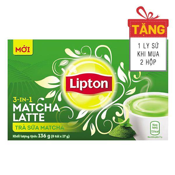 Trà Sữa Lipton Matcha 8 Gói* 17G