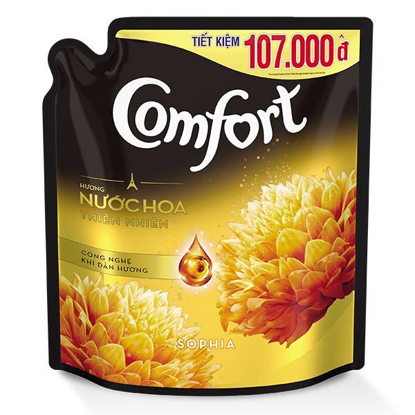 Nước Xả Vải Comfort Nước Hoa Thiên Nhiên Sofia Túi 2.4L