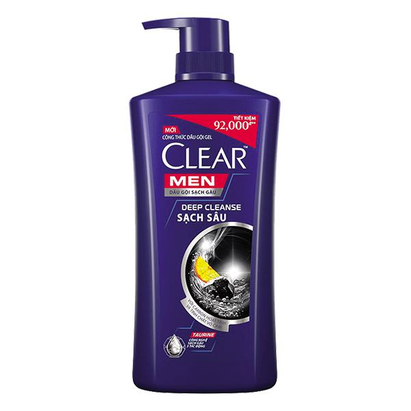 Dầu Gội Clear Men Sạch Sâu Da Đầu Chai 900G