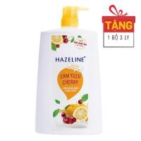 Sữa Tắm Hazeline Tẩy Tế Bào Chết Cam Và Cherry Chai 1.2Kg