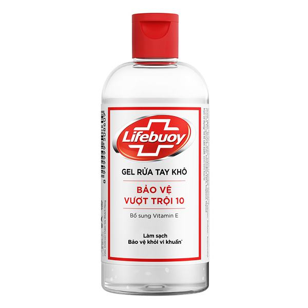 Gel Rửa Tay Khô Lifebuoy Bảo Vệ Vượt Trội Chai 235Ml