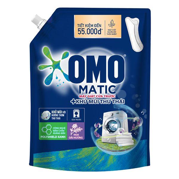 Nước Giặt Omo Matic Khử Mùi Thư Thái Cửa Trước Túi 2.9Kg