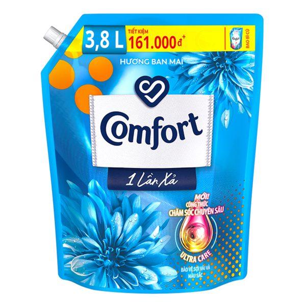 Nước Xả Vải Comfort 1 Lần Xả Hương Ban Mai Túi 3.8L