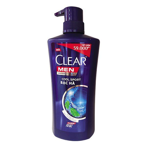 Dầu Gội Clear Men Mát Lạnh Bạc Hà Chai 630G