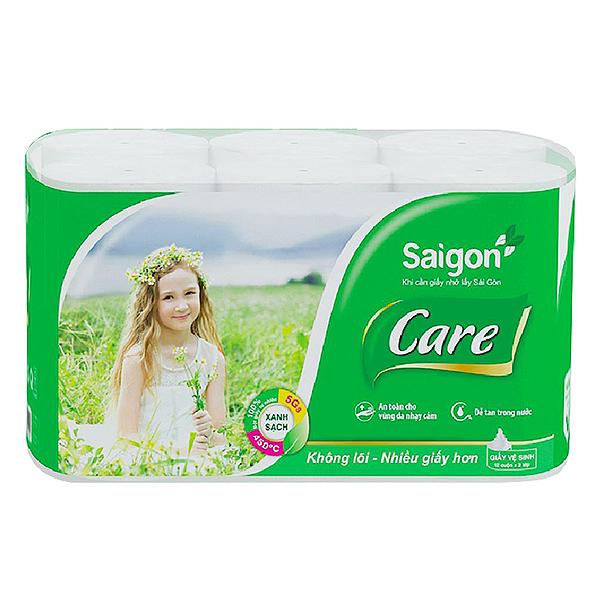 Lốc 12 Cuộn Giấy Vệ Sinh Saigon Care
