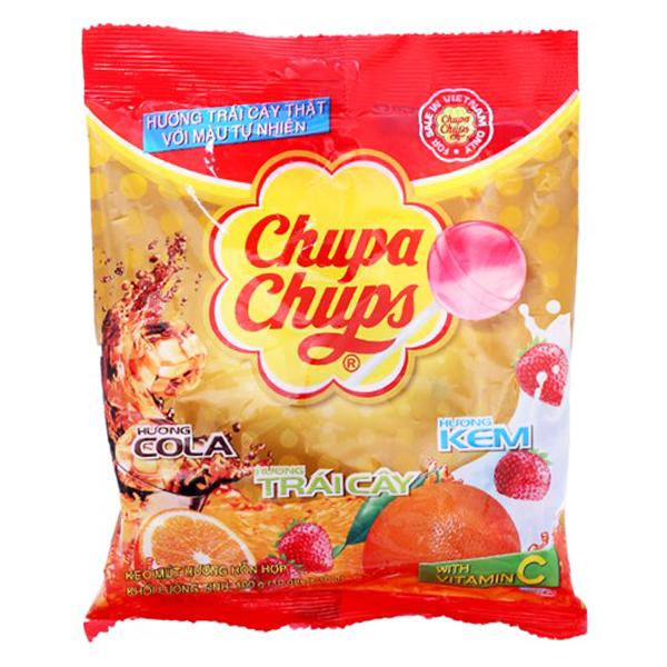 Kẹo Mút Chupa Chups Hỗn Hợp Trái Cây Túi 10 Que