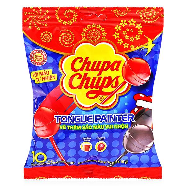 Kẹo Mút Chupa Chups Sắc Màu Túi 10 Que