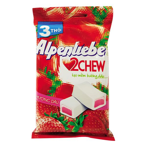 Kẹo Mềm Alpenliebe 2 Chew Dâu 73.5G