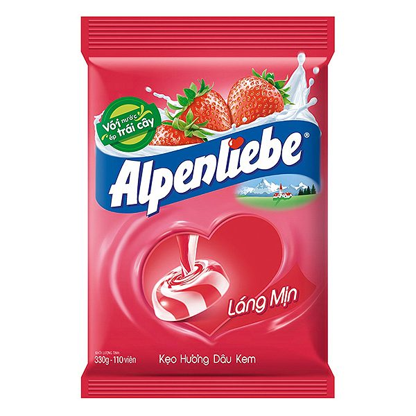 Kẹo Cứng Alpenliebe Hương Dâu Kem Túi 330G