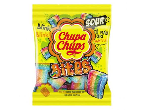 Kẹo Dẻo Chupa Chups Sour Bites Hương Trái Cây Gói 56G