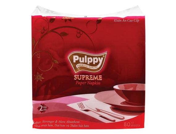 Khăn Ăn Pulppy Supreme 80 Tờ