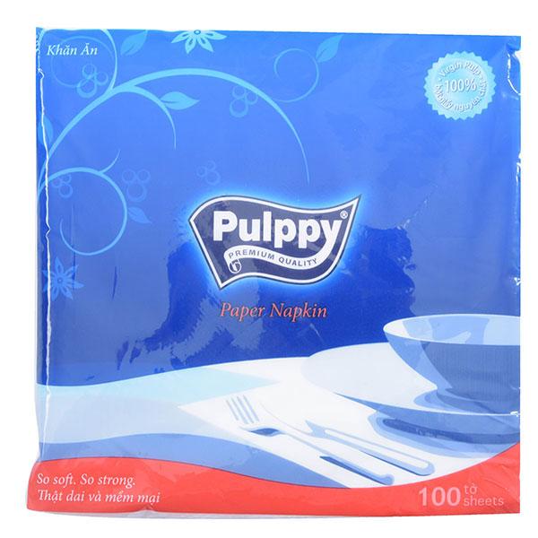 Khăn Giấy Pulppy Paper Napkin 100 Tờ