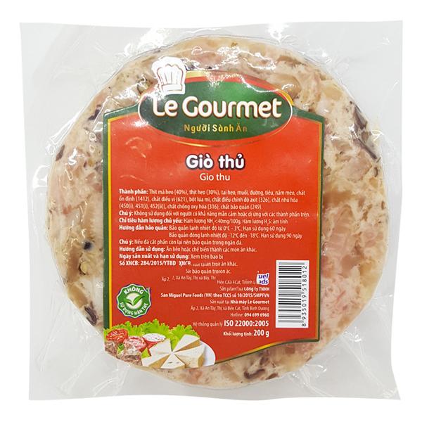 Giò Thủ Le Gourmet 200G